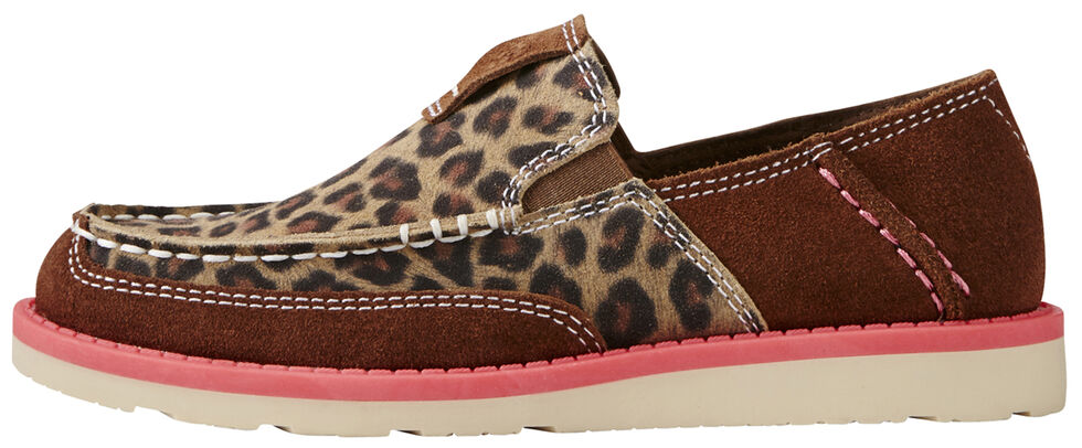 Ariat Youth Girl's Cheetah Print Cruiser - Moc Toe, Cheetah, hi-res