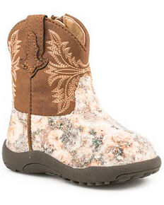 4830f685039 Roper Infant Girls Claire Floral Western Boots - Round Toe