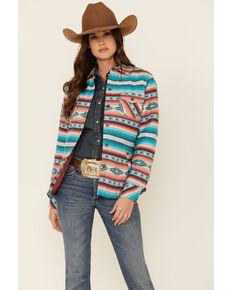 Ariat Women's R.E.A.L Marsala Serape Stripe Long Sleeve Shirt Jacket , Multi, hi-res