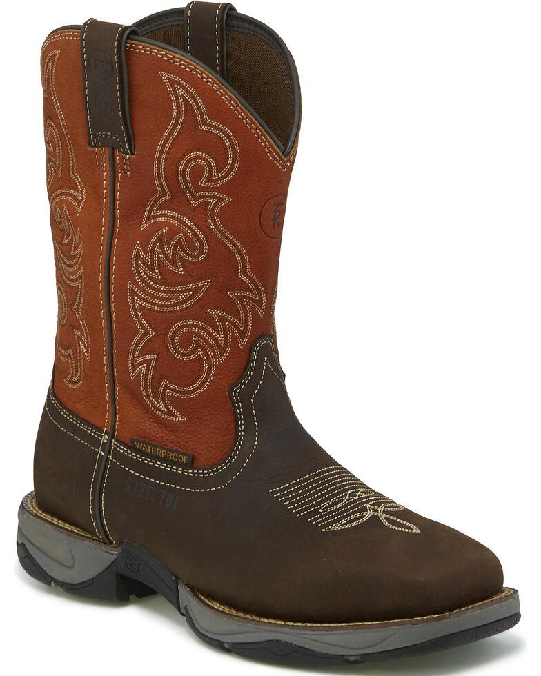 Tony Lama Men's Brown Junction Waterproof Work Boots - Steel Toe , Brown, hi-res