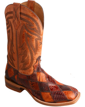 Twisted X Peanut Caiman Rancher Cowgirl Boots - Square Toe , Multi, hi-res