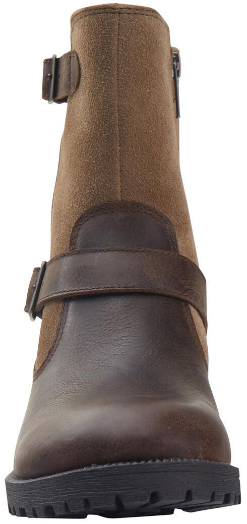 Eastland Women's Bomber Brown Suede Belmont Boots , Brown, hi-res