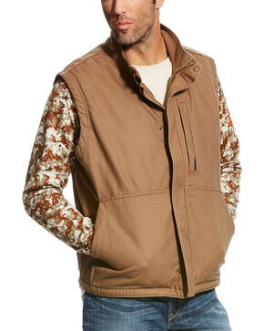Ariat Men's Field Khaki FR Workhorse Vest, Beige/khaki, hi-res