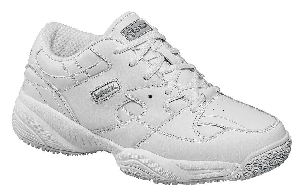 Skidbuster Women's Water Resistant Athletic Work Shoes, White, hi-res