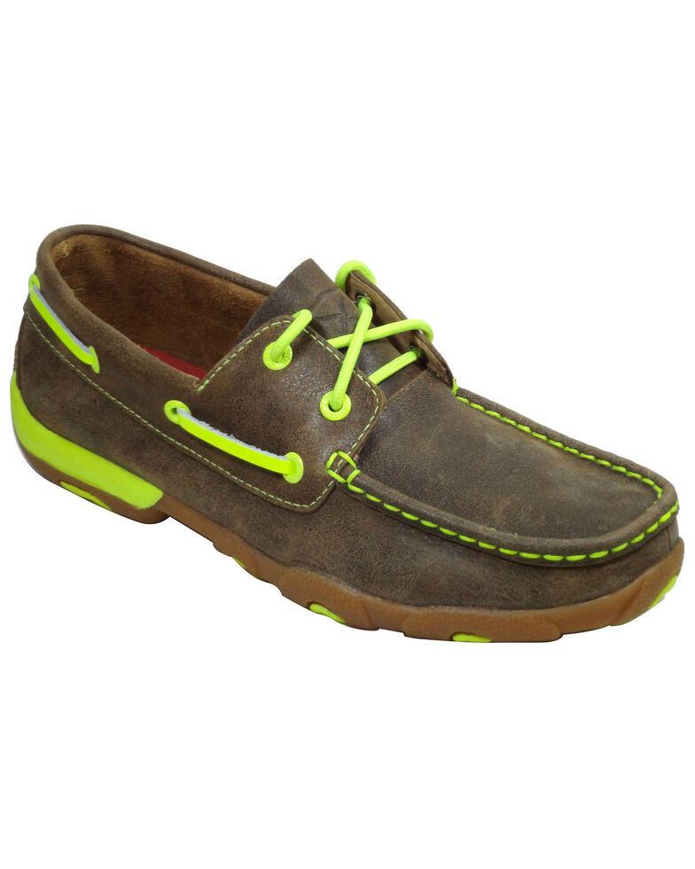 Twisted X Women's Bomber Yellow Driving Mocs, , hi-res