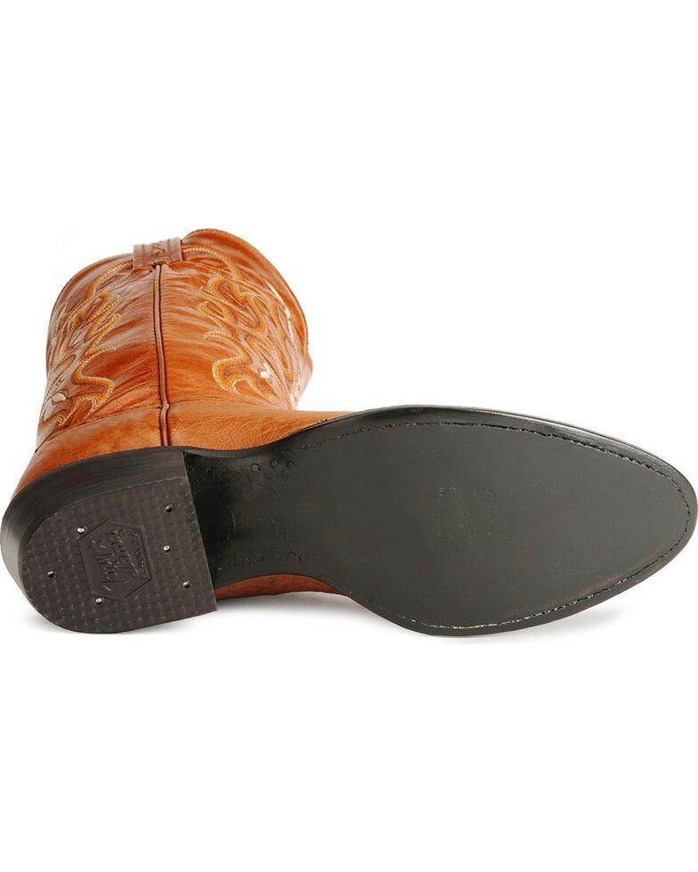 Tony Lama Men's Smooth Ostrich Cowboy Boots - Medium Toe, Peanut Brittle, hi-res