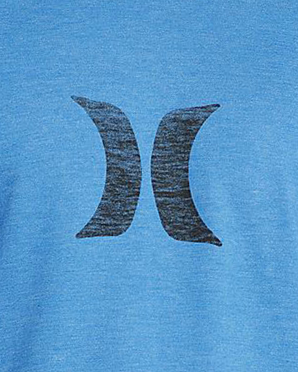 Hurley Men's Light Blue Heather Icon Push Through T-Shirt, Light Blue, hi-res