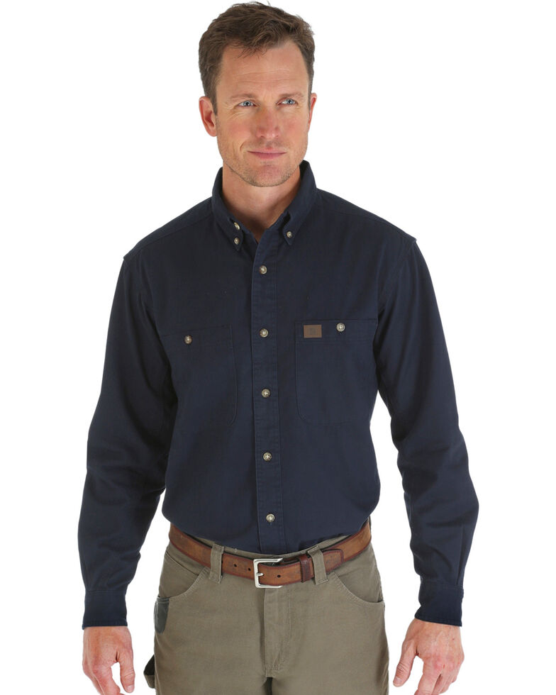 Wrangler Riggs Twill Work Shirt, Navy, hi-res