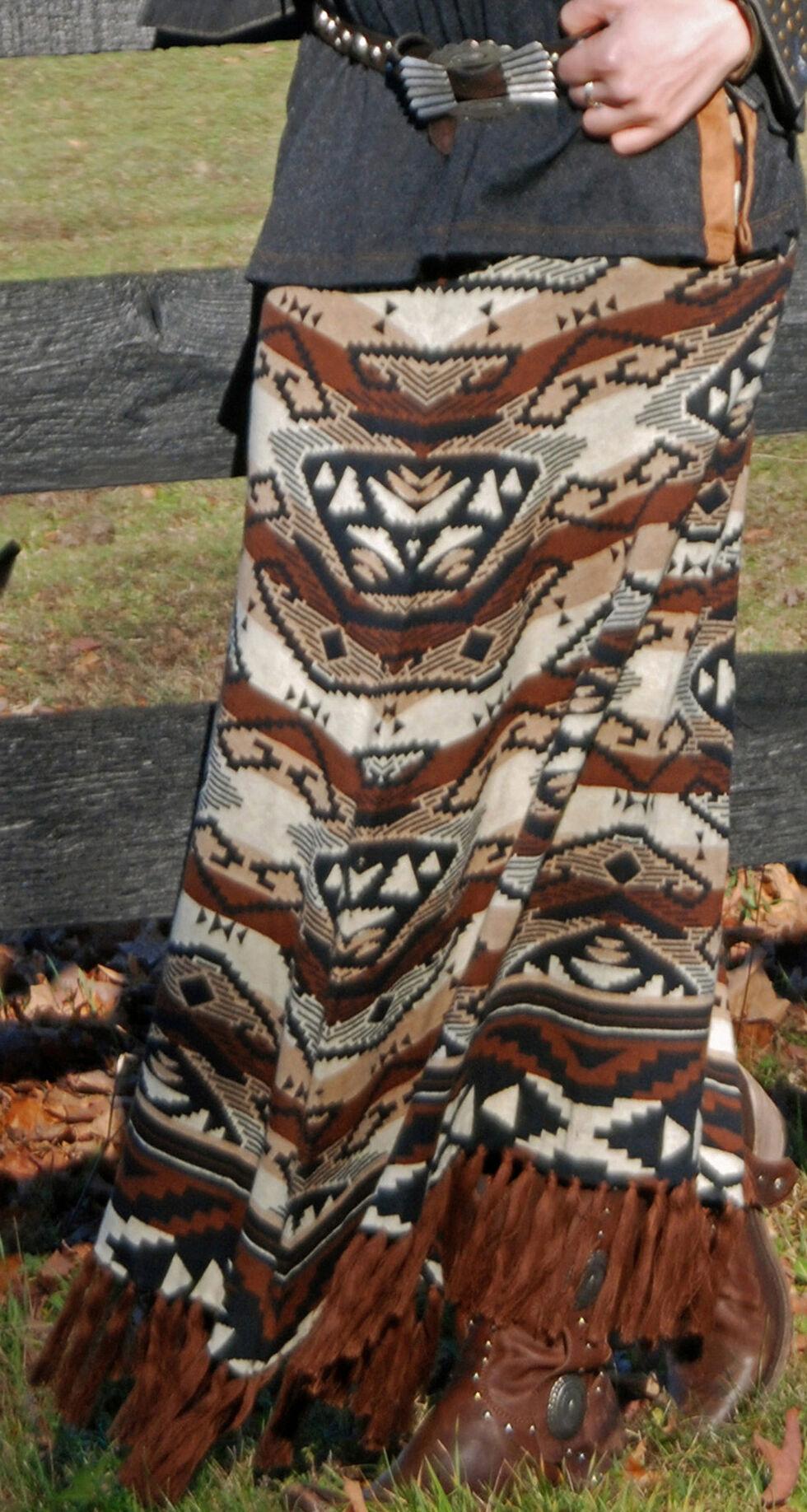 Tasha Polizzi Women's Azteca Blanket Skirt, Black, hi-res