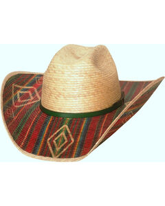 Bullhide Men's Southwestern Energy 20X Palm Leaf Hat , Natural, hi-res