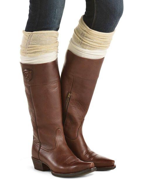 Blazin Roxx Cream with Gold Sparkle Knee-High Socks, Cream, hi-res