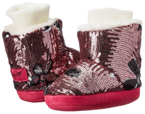 Blazin Roxx Infant Girls' Floral Sequin Fashion Slippers, Pink, hi-res