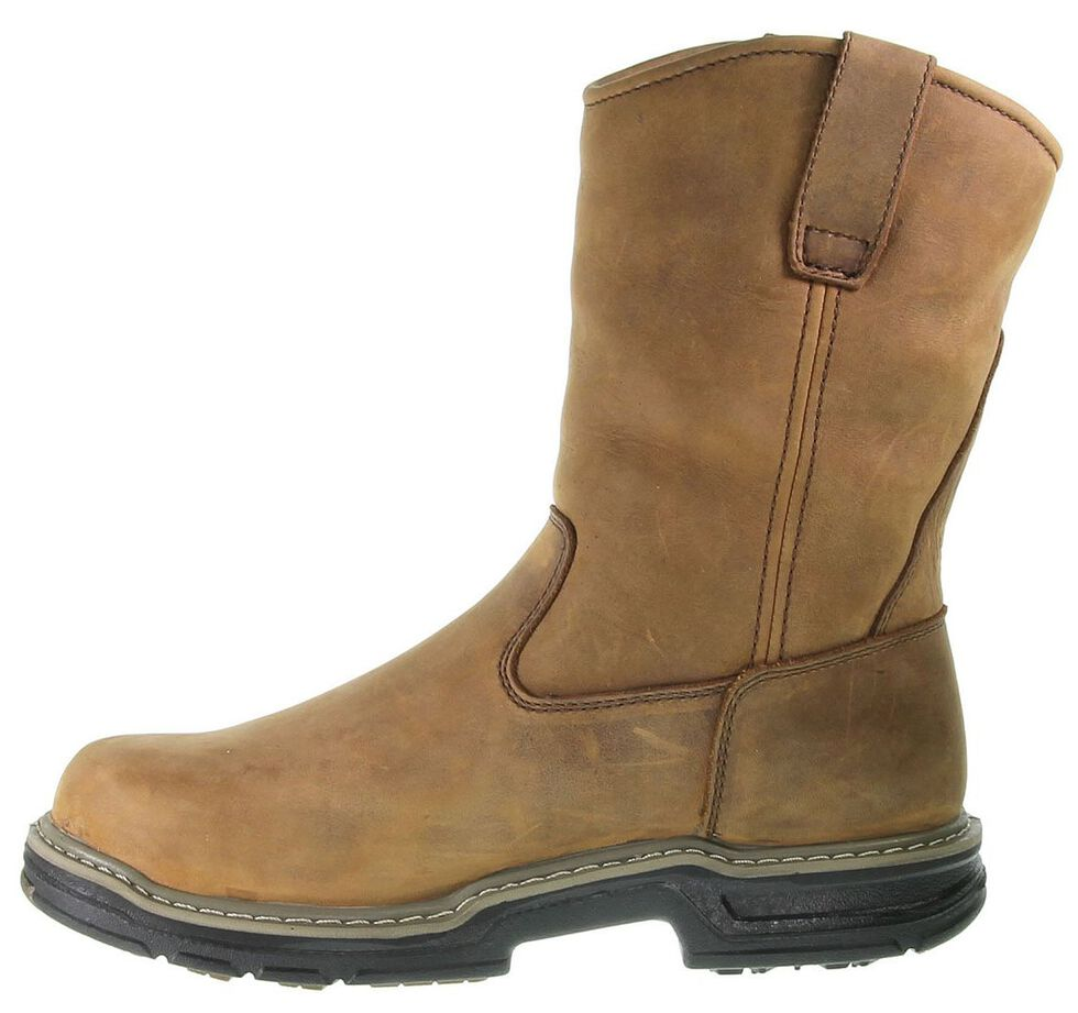 Wolverine Marauder Waterproof & Insulated Pull-On Work Boots - Steel Toe, Brown, hi-res
