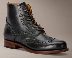 Frye Men's Arkansas Wingtip Boots, Black, hi-res