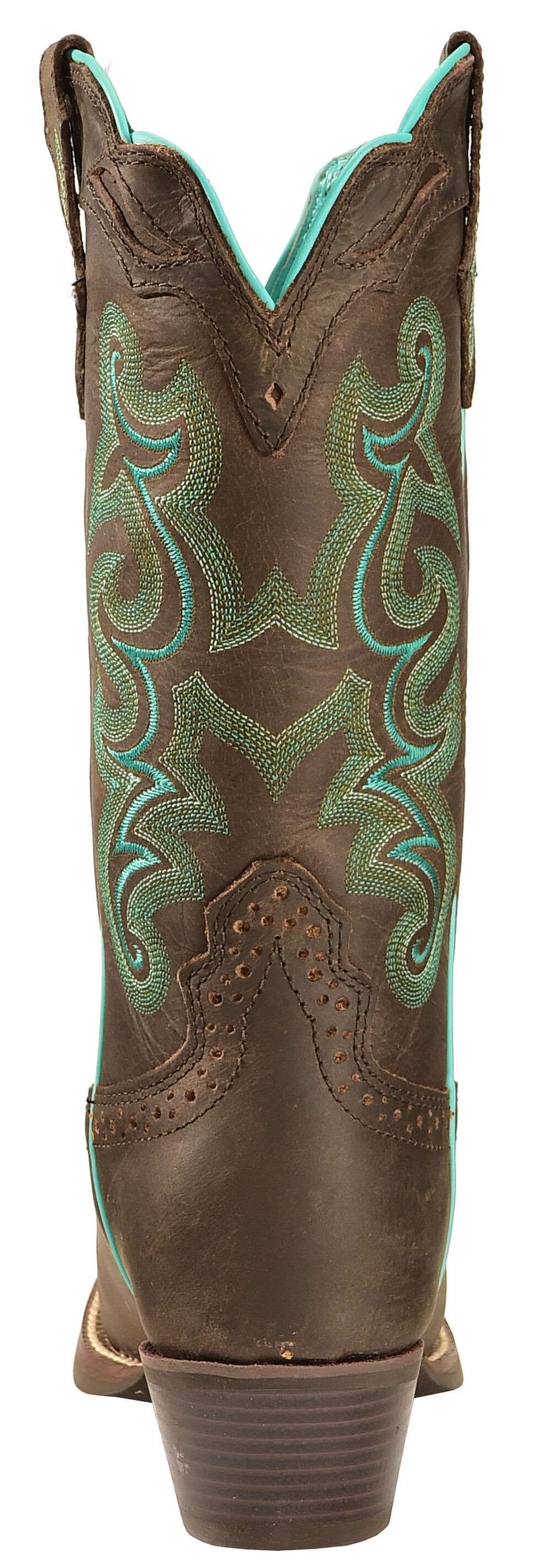 Justin Women's Sevana Chocolate Cowgirl Boots - Square Toe, Chocolate, hi-res