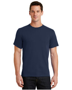 Port & Company Men's Essential Solid Short Sleeve Work T-Shirt , Navy, hi-res