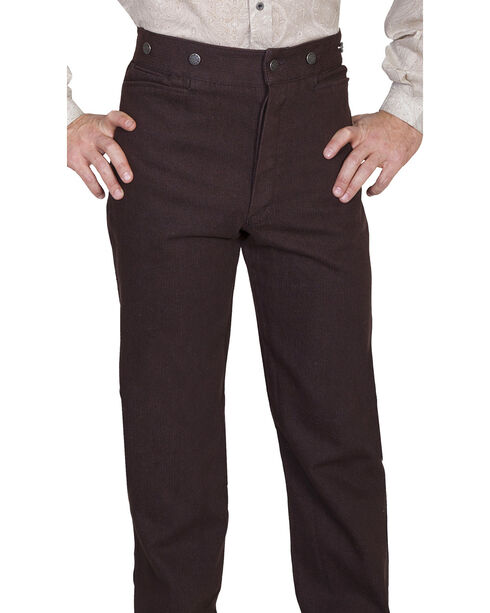 Wahmaker by Scully Raised Dobby Stripe Pants - Tall, Walnut, hi-res