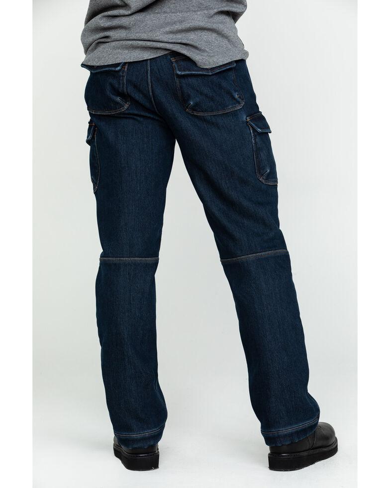 Hawx Men's Fleeced Lined Stretch Denim Work Jeans, Indigo, hi-res