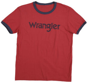 Wrangler Men's Red Ringer Tee, Red, hi-res