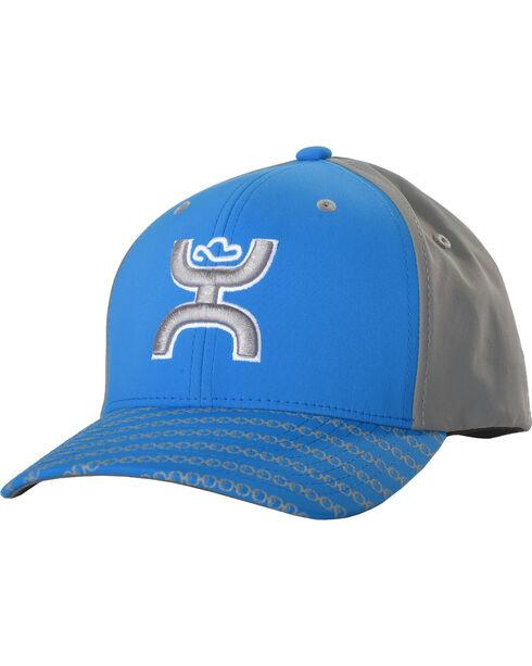 Hooey Men's Solo III Snapback Mesh Trucker Cap, Blue, hi-res