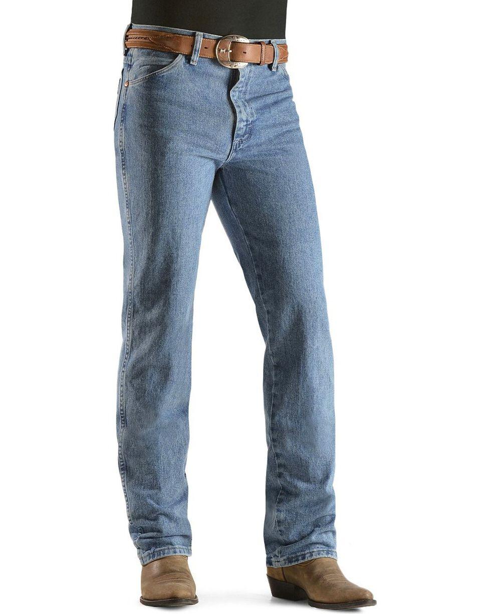 "Wrangler 936 Cowboy Cut Slim Fit Prewashed Jeans - 38"" Inseam, Antique Blue, hi-res"