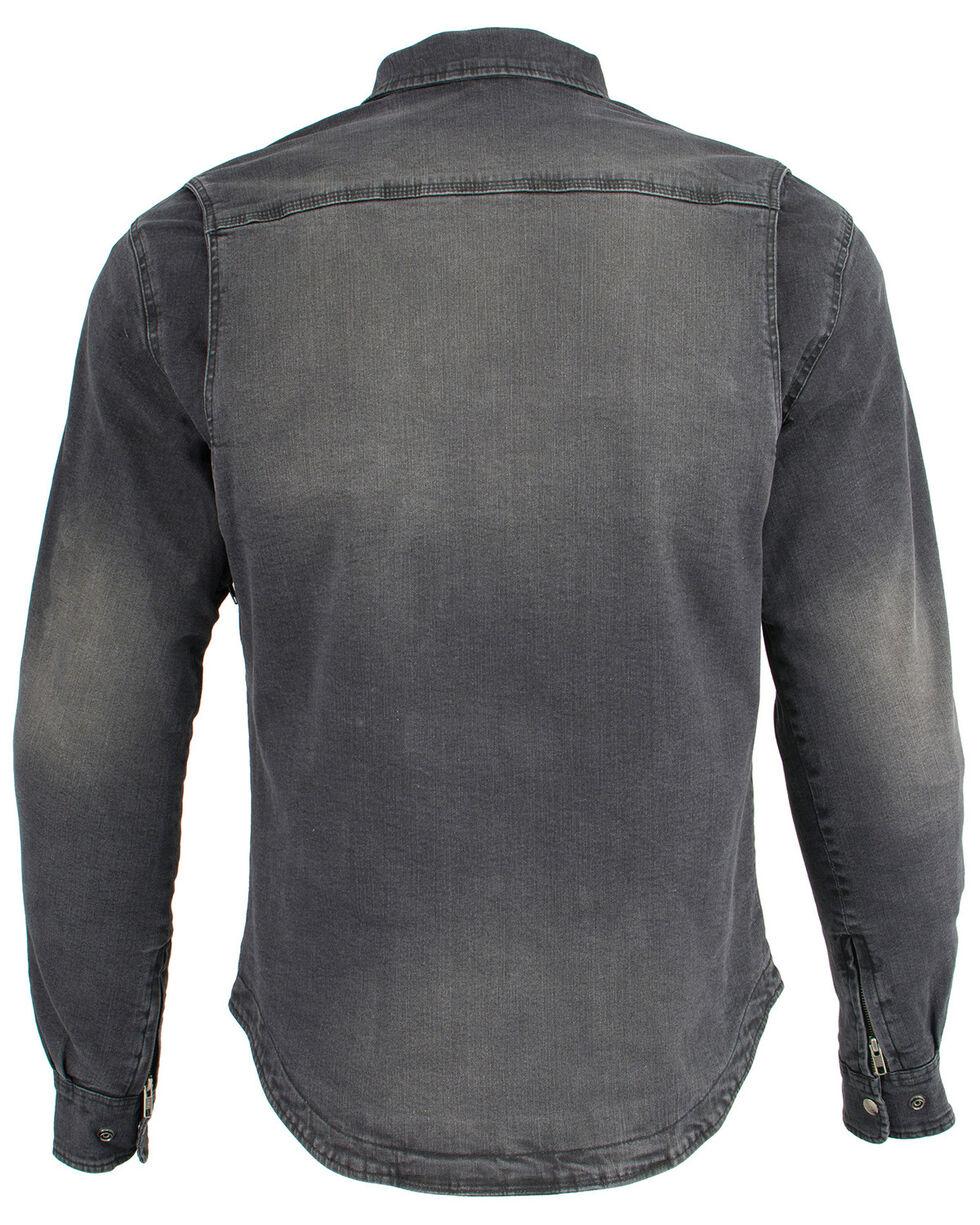 Milwaukee Performance Men's Black Denim Biker Shirt, Black, hi-res