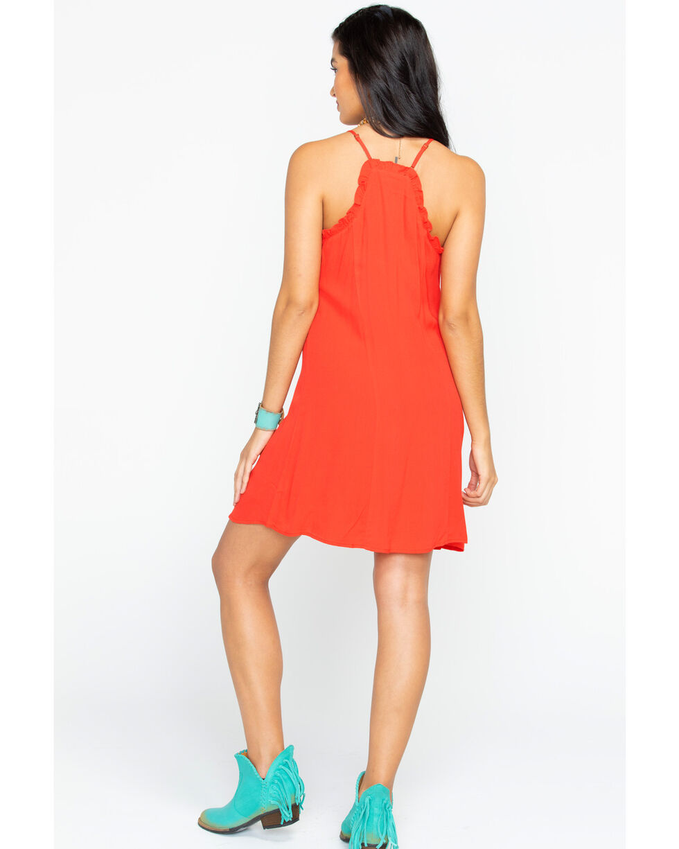 Miss Me Women's The Real Thing Dress , Red, hi-res