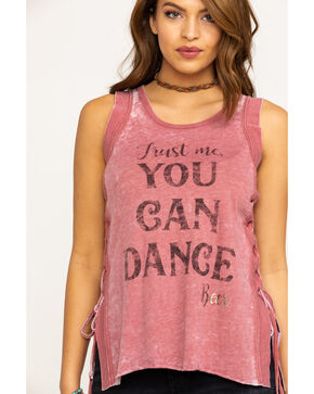 Shyanne Women's Rust You Can Dance Muscle Tank, Rust Copper, hi-res