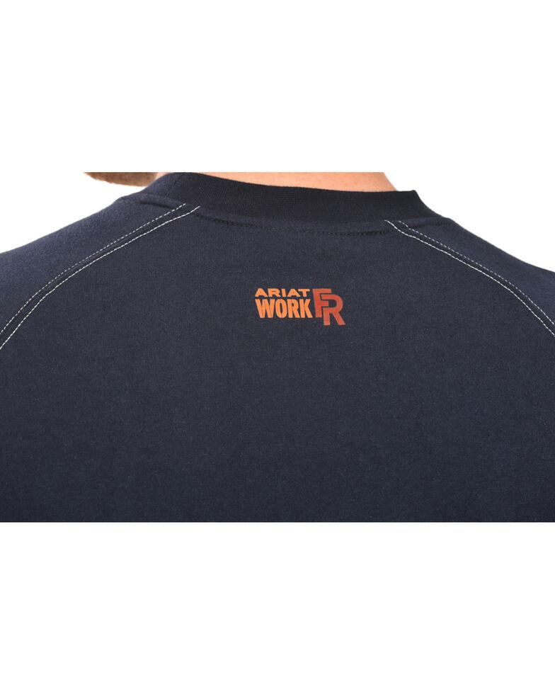 Ariat Men's FR Workwear Crew Long Sleeve Work T-Shirt - Big & Tall, Navy, hi-res