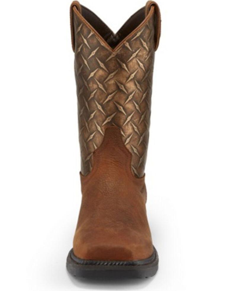 Tony Lama Men's Diboll Rust Diamond Plate Western Work Boots - Composite Toe, Rust Copper, hi-res