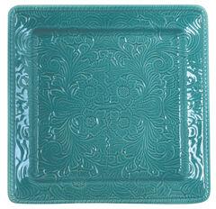 HiEnd Accents Savannah Serving Plate, Turquoise, hi-res