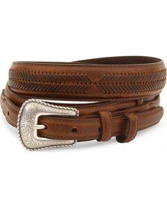 Nocona Leather Ranger Belt - Reg & Big, Brown, hi-res
