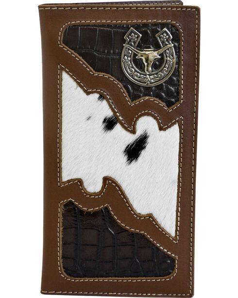 Western Express Men's Rodeo Horse Emblem Wallet , Brown, hi-res