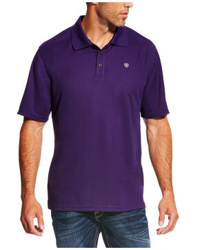 Ariat Men's Texas Orange Tek Polo Shirt, Purple, hi-res