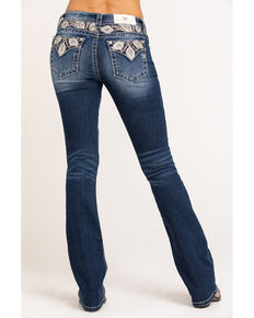 "Miss Me Women's Peacock Chloe Bootcut 34"" Jeans, Blue, hi-res"