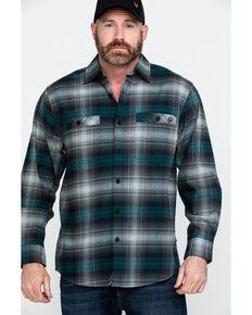 Wolverine Men's Grayson Plaid Stretch Flannel Work Shirt , Black, hi-res
