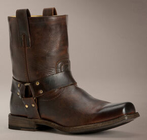 Frye Smith Harness Antique Boots, Dark Brown, hi-res