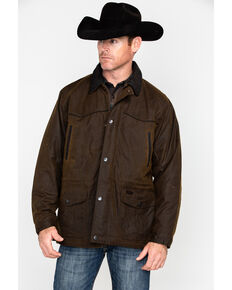 Outback Trading Co. Oilskin Rancher Jacket, Bronze, hi-res