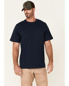 Hawx Men's Solid Navy Forge Short Sleeve Work Pocket T-Shirt - Tall, Navy, hi-res