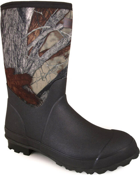 Smoky Mountain Men's Camo Amphibian Work Boots - Round Toe , Camouflage, hi-res