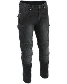 "Milwaukee Leather Men's Black 34"" Aramid Reinforced Straight Cut Denim Jeans, Black, hi-res"