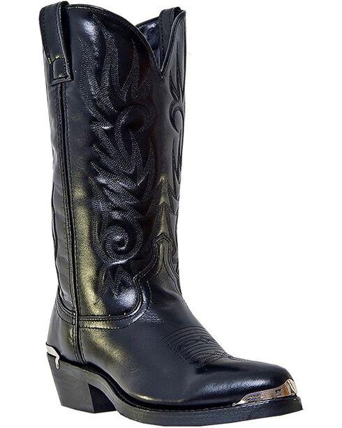 Laredo McComb Cowboy Boots - Medium Toe, Black, hi-res