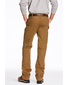 a13f39355d8 Ariat Mens Khaki Rebar M4 Washed Twill Dungaree Work Pants