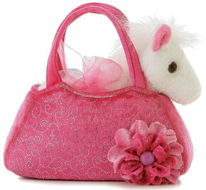 Aurora Plush Pony Pet Carrier, Pink, hi-res