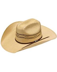 Twister Men's Natural Bangora Straw Western Hat , Natural, hi-res