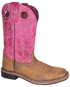 Smoky Mountain Women's Tracie Western Boots - Square Toe, Brown, hi-res