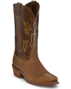 "Nocona Men's 12"" Vintage Cowboy Boots - Square Toe, Tan, hi-res"