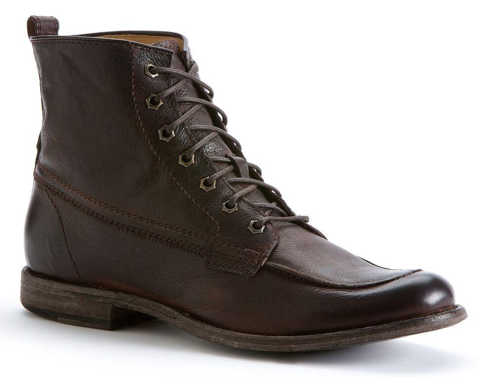 Frye Men's Phillip Work Boots - Round Toe, Dark Brown, hi-res