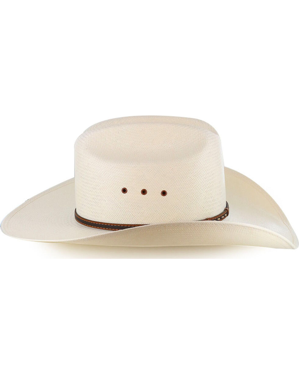 Stetson Men's 10X Natural Gunfighter Straw Hat, Natural, hi-res