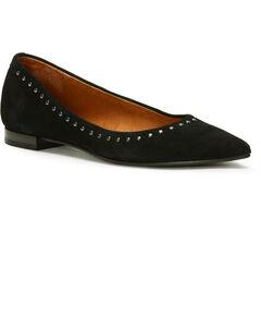 Frye Women's Black Sienna Micro Stud Ballet Flats - Pointed Toe, Black, hi-res